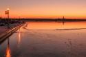 Sonnenuntergang am Cospudener See bei Leipzig, 10.01.2009